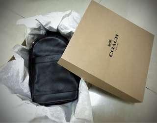 Coach Men's Leather Shoulder Crossbody Bag Charles Pack Backpack Black F54770