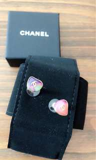 Authentic Chanel resin earrings