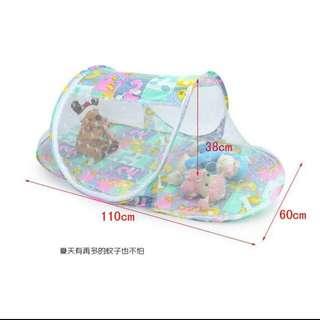 嬰兒自動蚊帳