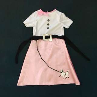 50's/ Poodle Skirt Costume for Girls (size 2-4)