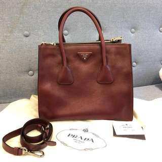 Prada 2ways leather bag
