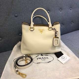 Prada leather bag 白色氣質女神袋