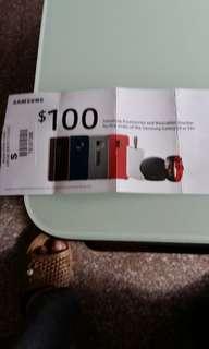 Samsung voucher ($100)