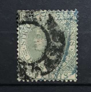 Straits Queen Victoria 1883 stamp 24c green Used