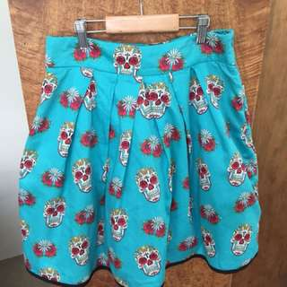 Revival Sugar Skull Skirt - Dangerfield size 8
