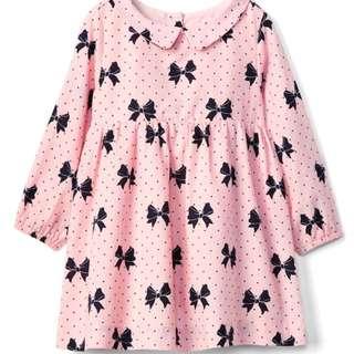 BN GAP Baby Girl Ribbon Pink Long Sleeves Dress 12-18m & 18-24mths available!
