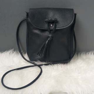 Tassel Leather Sling Bag