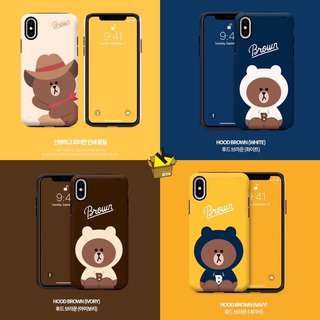 Line Friends 牛仔 brown phone case 手機殼