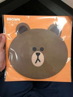 Brown line mouse pad