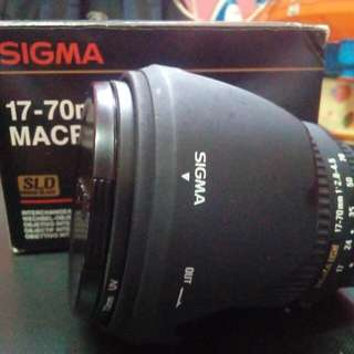 Sigma 17-70mm nikon