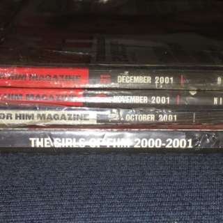 2001 Oct Nov Dec Issues FHM PH magazines and Girls of FHM 2000-2001