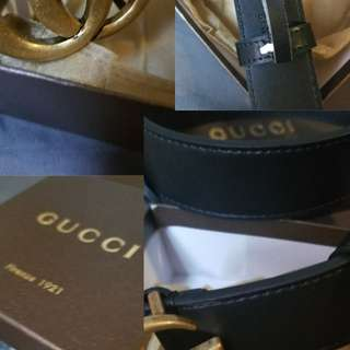 Belt real leather gg