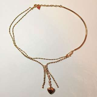 Guess necklace 頸鏈 原裝盒 塵袋