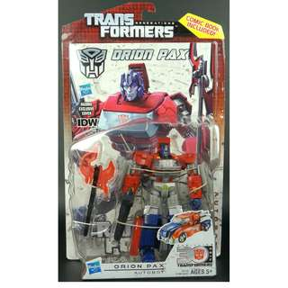 Transformers Generations IDW Orion Pax Optimus Prime Convoy MOSC Classic Henkei POTP