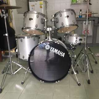 yamaha gigmaker silver glitter/drum set