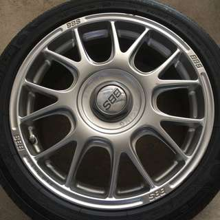 Original 17' BBS rims with tyres