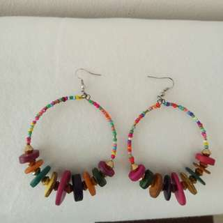 Colorful buttons earrings