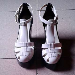 Mellisa Shoes 'Strips' (black and white)
