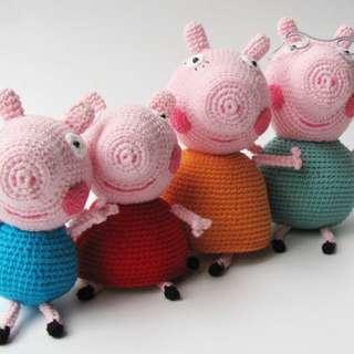 Handmade Crochet Peppa pig
