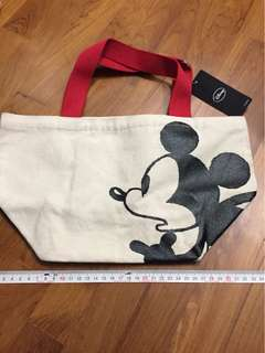 BRAND NEW WITH TAG! Official Japan Disney Mickey Mouse Tote Bag