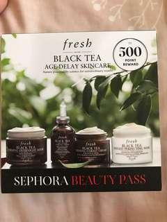 Fresh black tea age-delay skincare travel size
