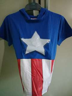 Captain America Top with Lights