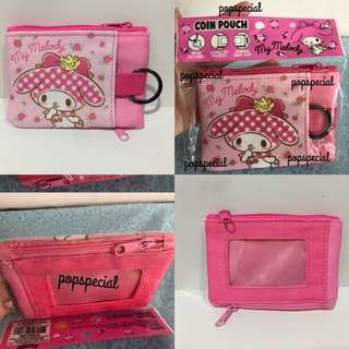 Last PCS Left My Melody 4 in 1 Zip Coin Pouch Wallet Purse