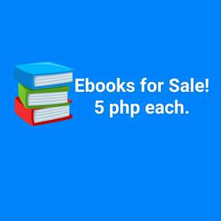 Ebooks (Epub) for sale!