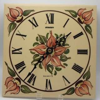 德國制 STAIGER 方形 陶瓷掛牆鐘