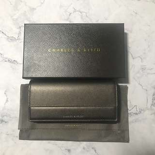 (Authentic) Charles & Keith Wallet fold over with magnetic closure