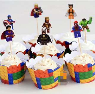 Lego Characters 8 sets party supplies