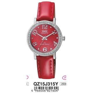 Q&Q Watch by Citizen QZ15 ORIGINAL LADIES FASHION LEATHER STRAP