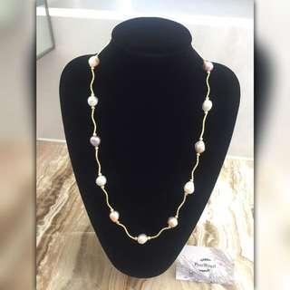 [天然珍珠]Pearl Pearl巴洛克風格 珍珠毛衣鏈 大特價$688