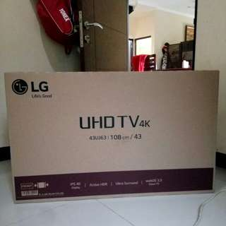 Smart TV 43inch UHD 4K LG 43UJ632T Baruuu Setel