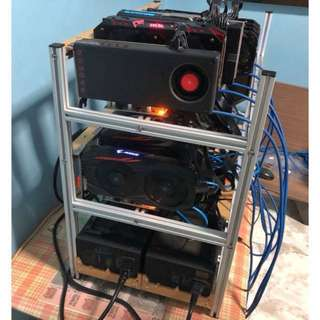 MIX OF AMD CARDS MINING RIG | OPEN TO OFFERS | rx580, rx570, rx480