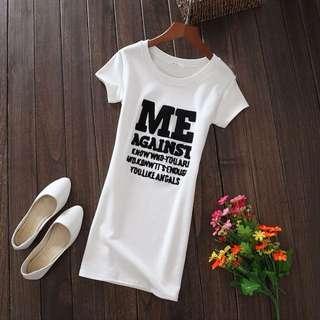 PO-MEE long shirt - white