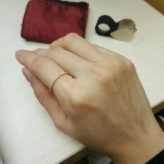 鑽石條戒 扇戒 面交(購自謝瑞麟TSL)冇盒