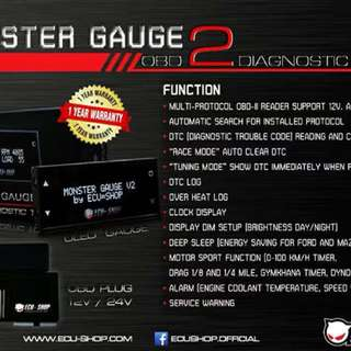 Ecushop Monster gauge2 and boost speed