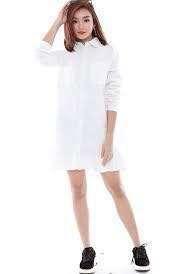 Fairebelle DARCIA SHIRT DRESS - White