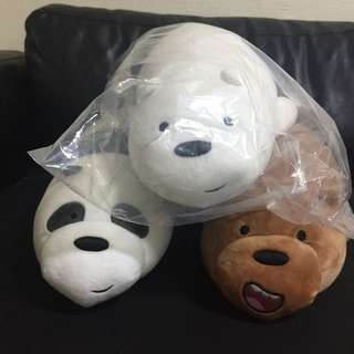 Miniso We Bare Bears Complete Set Soft Toy