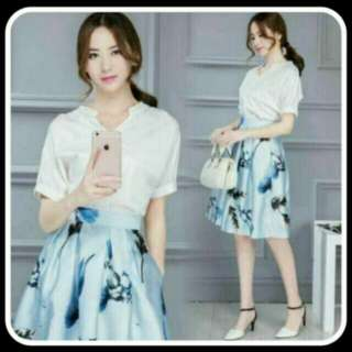 BN: Korean Top and Skirt Set