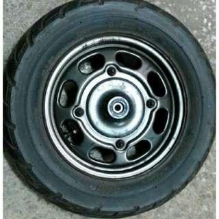 輪胎+輪筐