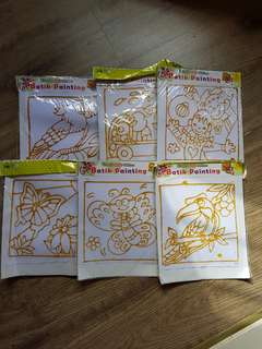 Batik painting for kids