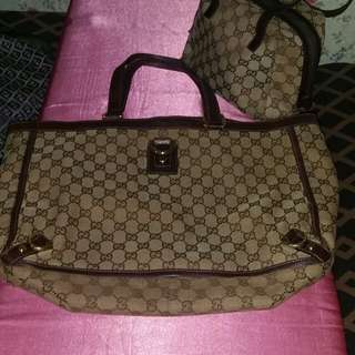Authentin GUCCI large abbey tote bag