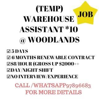Warehouse Assistant @Woodlands