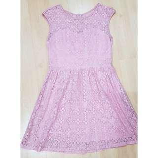 PD & Co. Pink Lace Dress