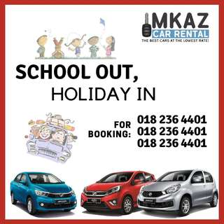 Car Rental - March school holidays-deals on NOW!!