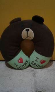 Bantal leher brown