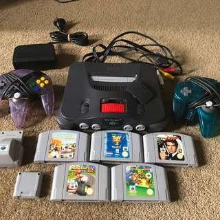 Nintendo 64 + accessories