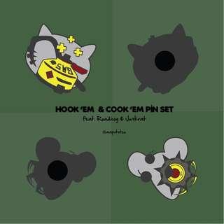 Hook 'em & Cook'em Pins